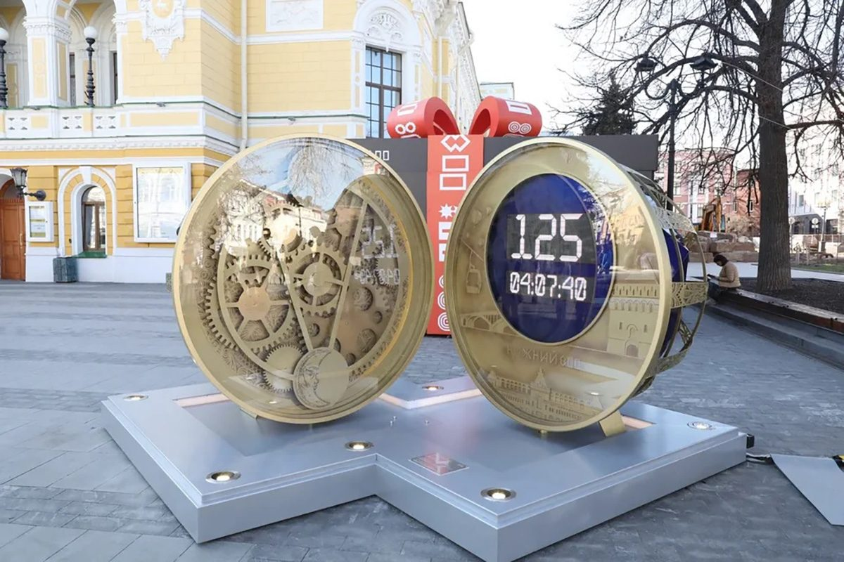 Часы обратного отсчета перенесут в парк Кулибина после 800-летия города