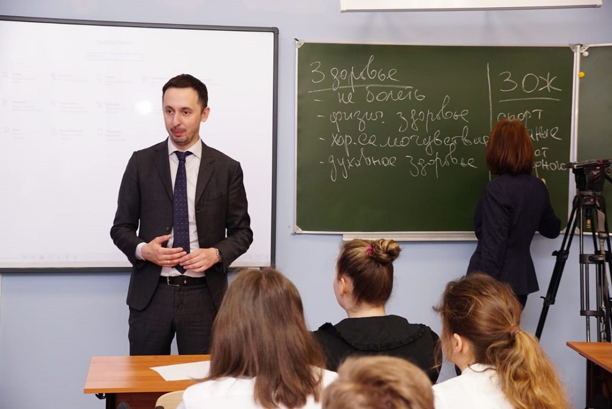 Давид Мелик-Гусейнов рассказал нижегородским школьникам про ЗОЖ