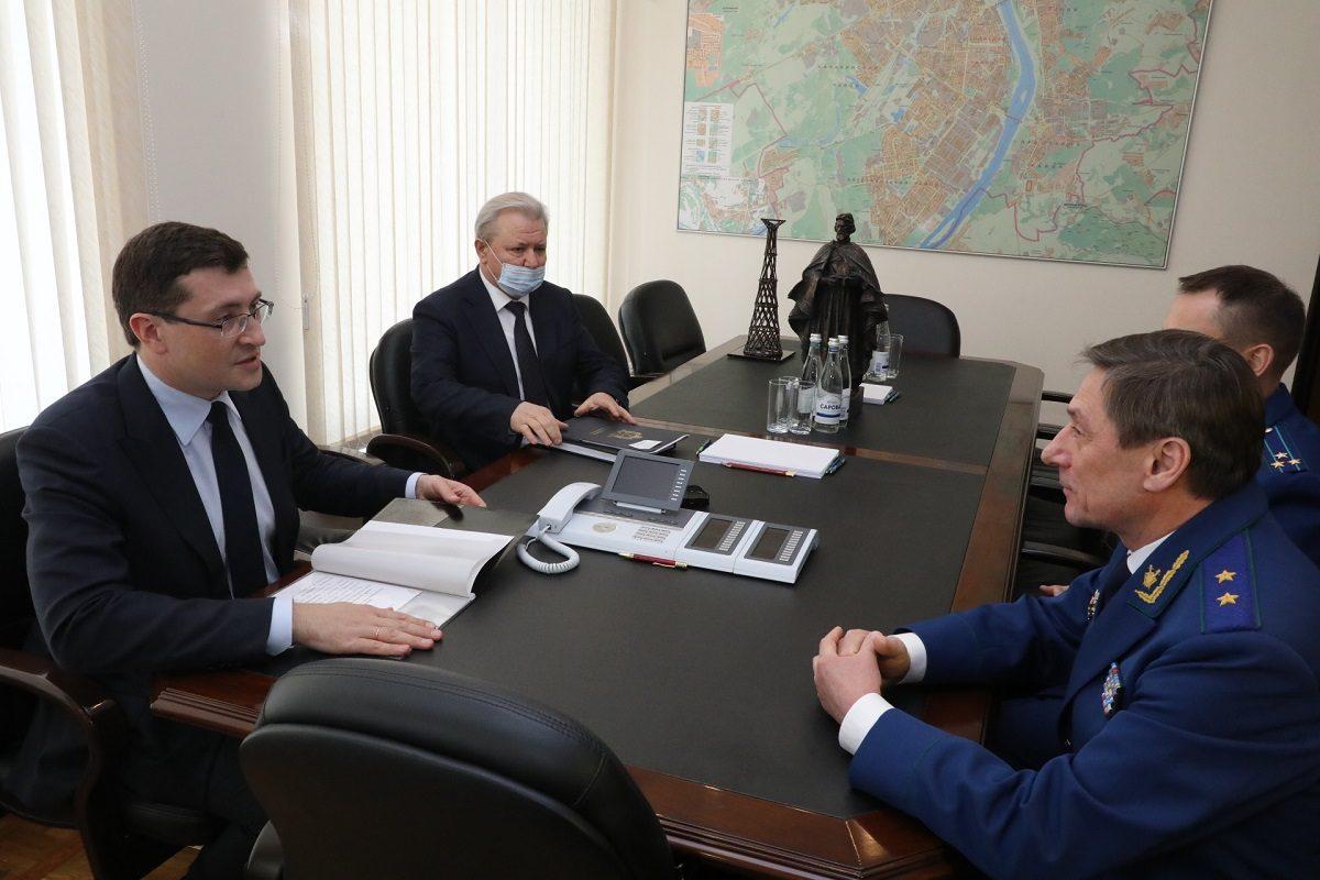 Глеб Никитин провел встречу спрокурором Нижегородской области Андреем Травкиным