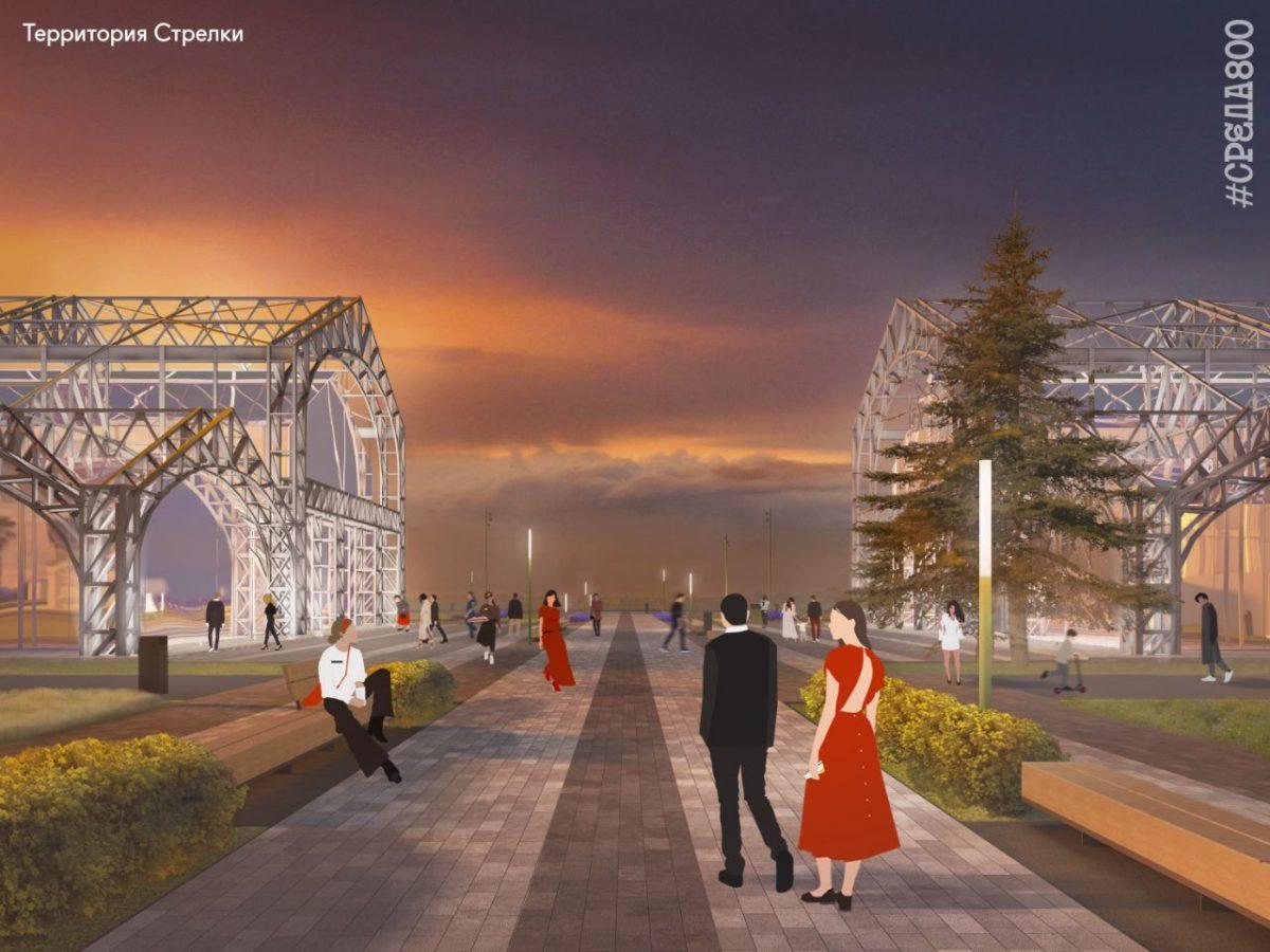Стрелка откроется для свободного посещения в августе: смотрим, как будет выглядеть обновленное пространство