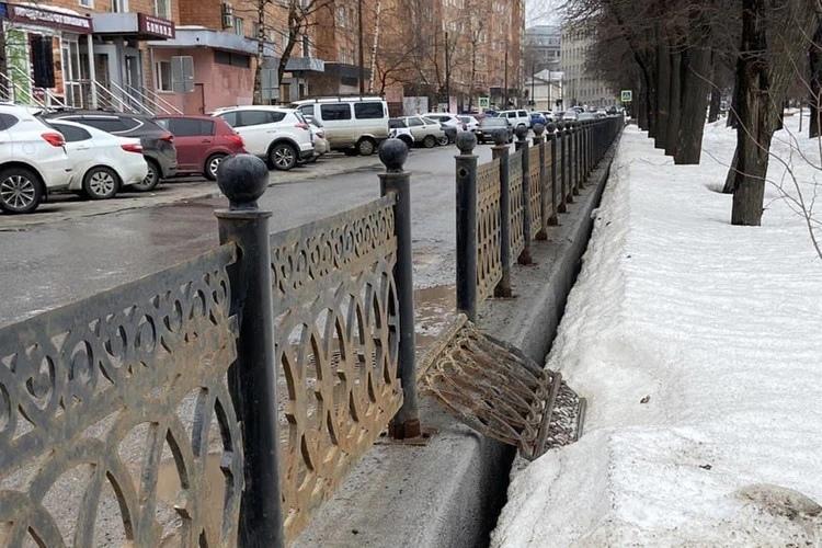 Подрядчик восстановит ограду сквера на Звездинке в центре Нижнего Новгорода
