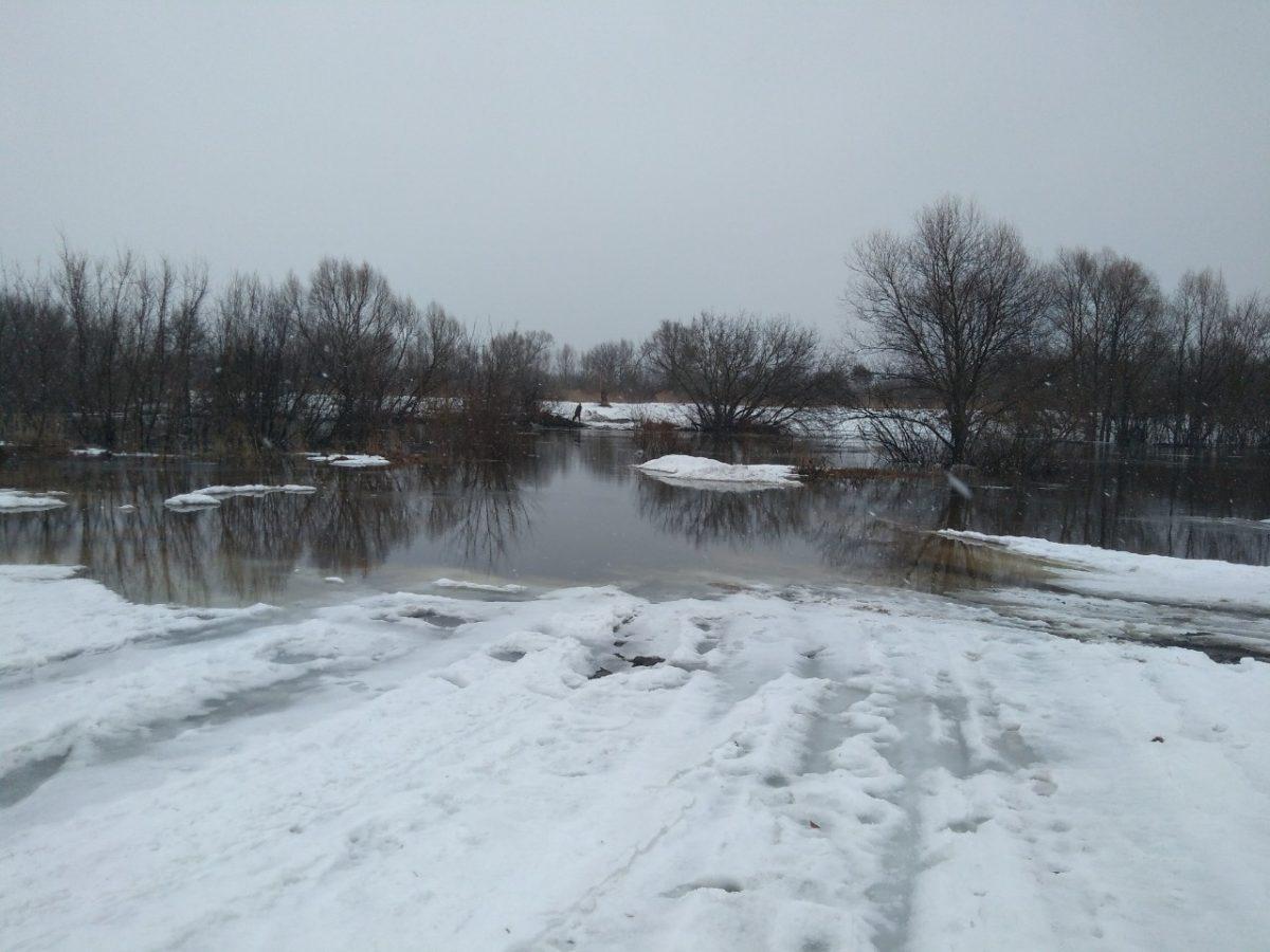 В Нижегородской области затопило еще один автомобильный мост