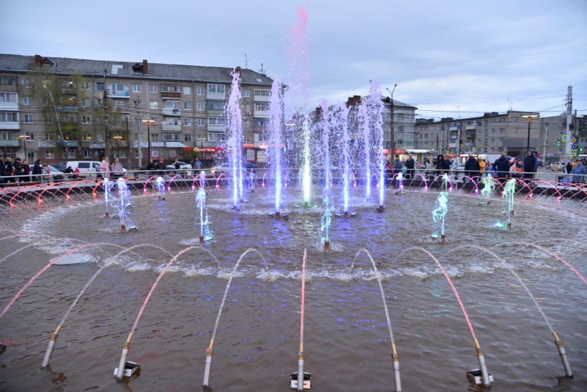 В Дзержинске запущены два городских фонтана