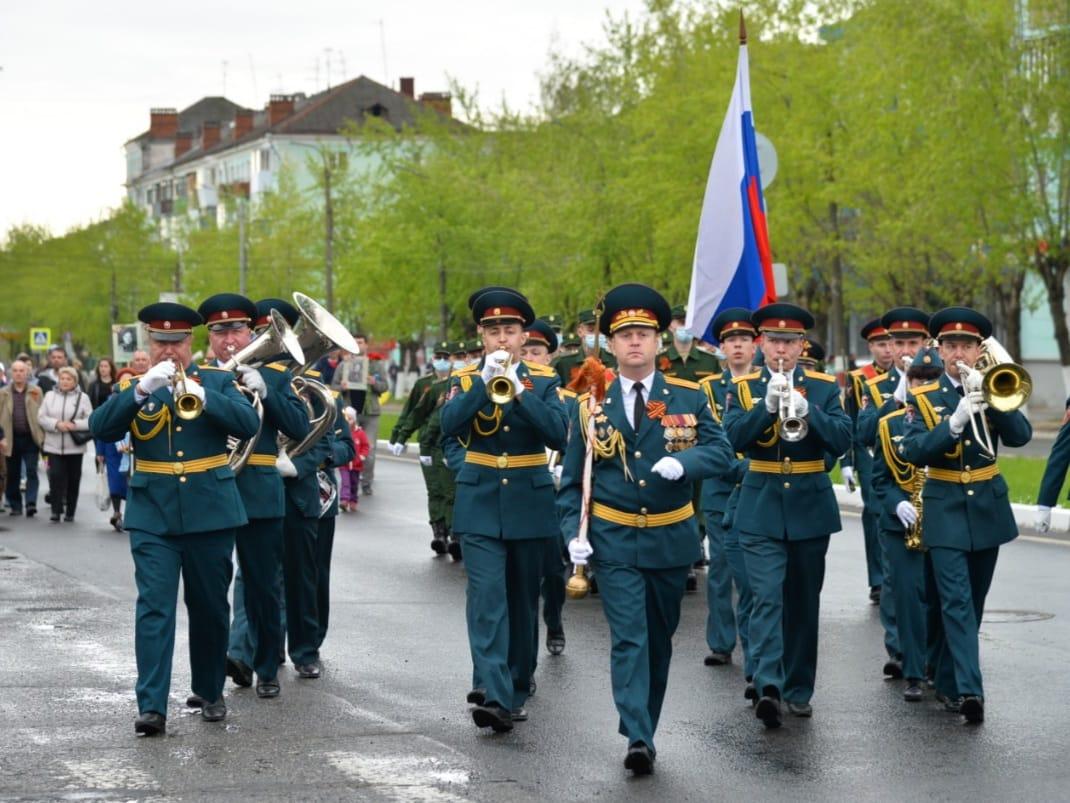 Военный парад прошел по проспекту Ленина в Дзержинске