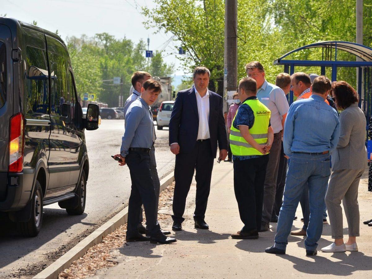 Глава Дзержинска проверил выполнение работ по ремонту дорог