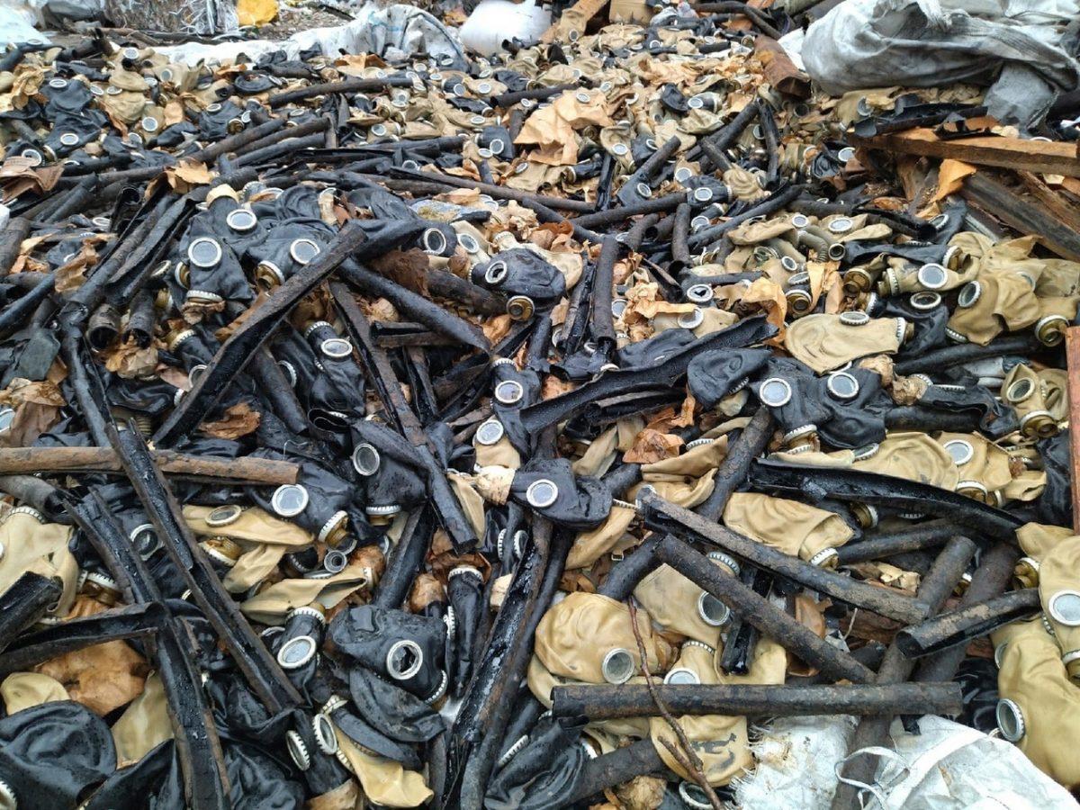 Свалку использованных противогазов нашли под Нижним Новгородом
