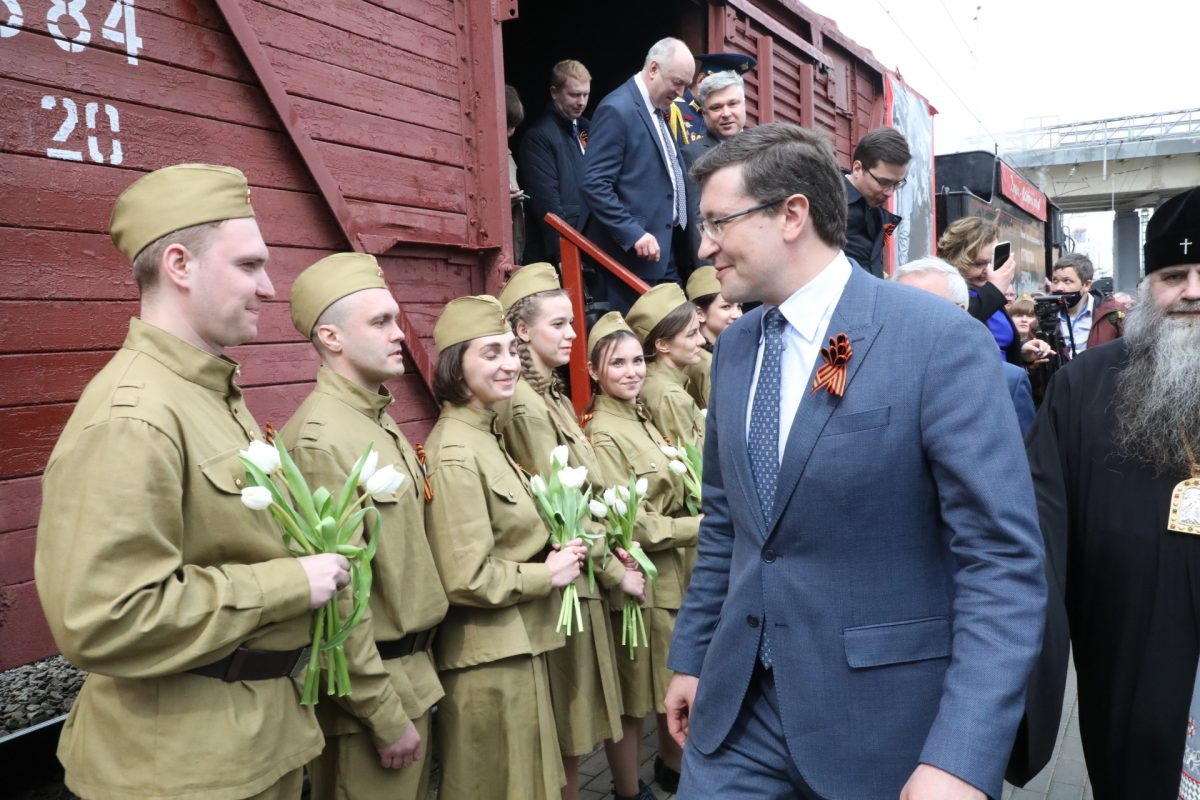Глеб Никитин: «Поезд Победы дает нам возможность погрузиться ватмосферу мая 1945 года»