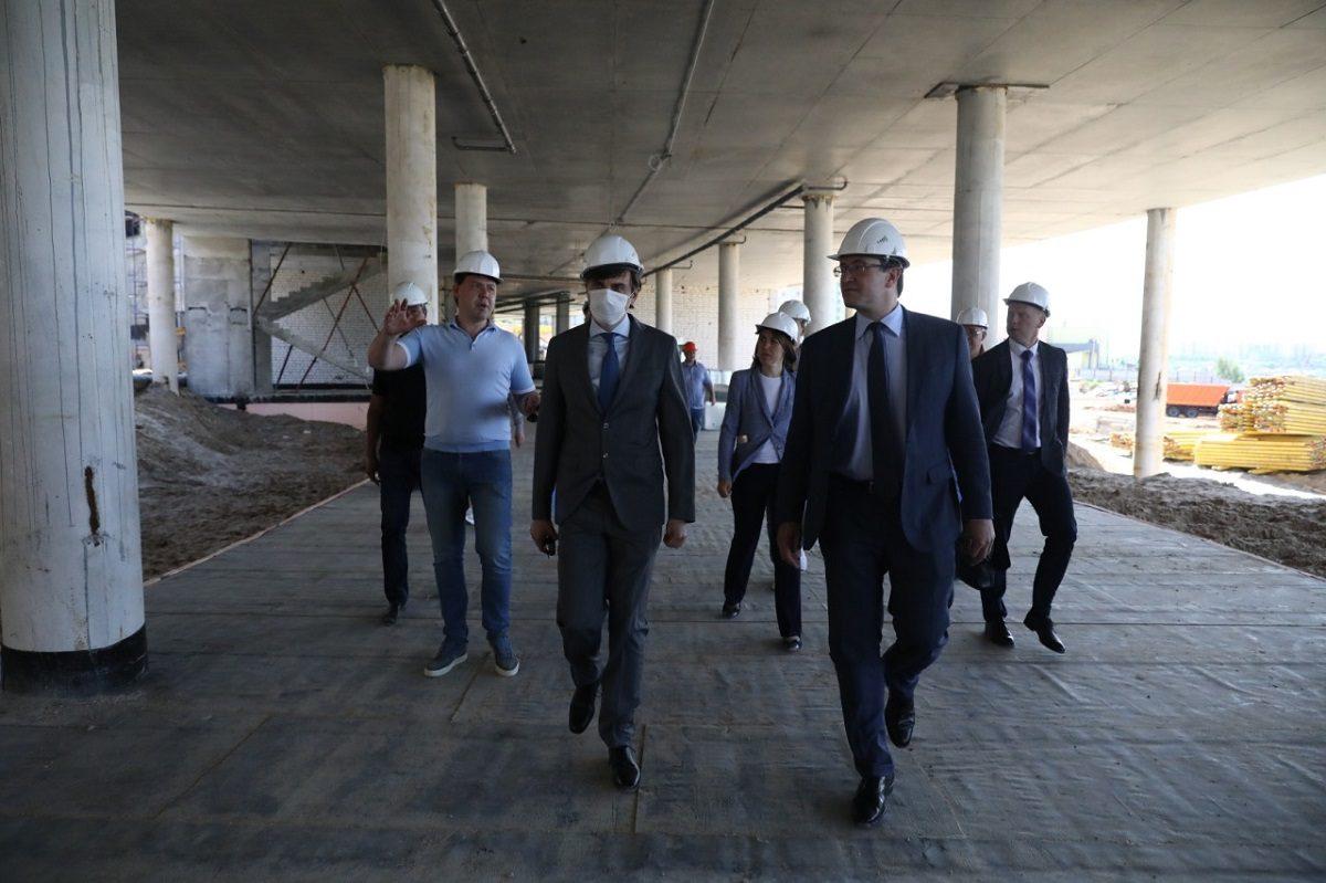 Сергей Кравцов иГлеб Никитин оценили ход строительства «Школы 800»