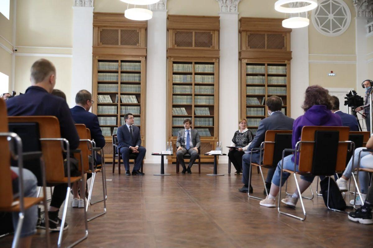 Сергей Кравцов иГлеб Никитин провели встречу врамках перезапуска работы Российского общества «Знание»