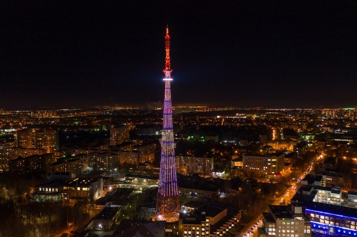 Систему подсветки телебашни в Нижнем Новгороде обновили к 800-летию города
