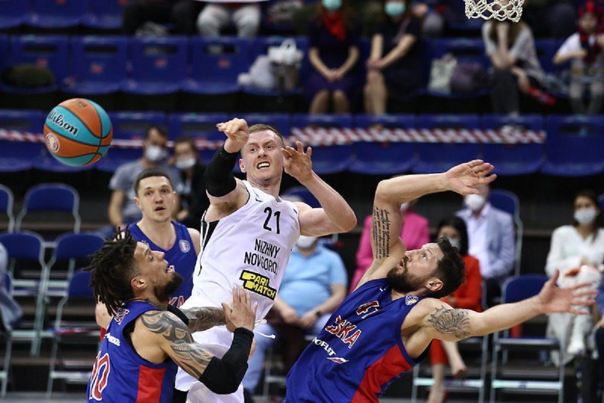 Баскетболисты «Нижнего Новгорода» проиграли первый матч серии плей-офф Единой лиги ВТБ