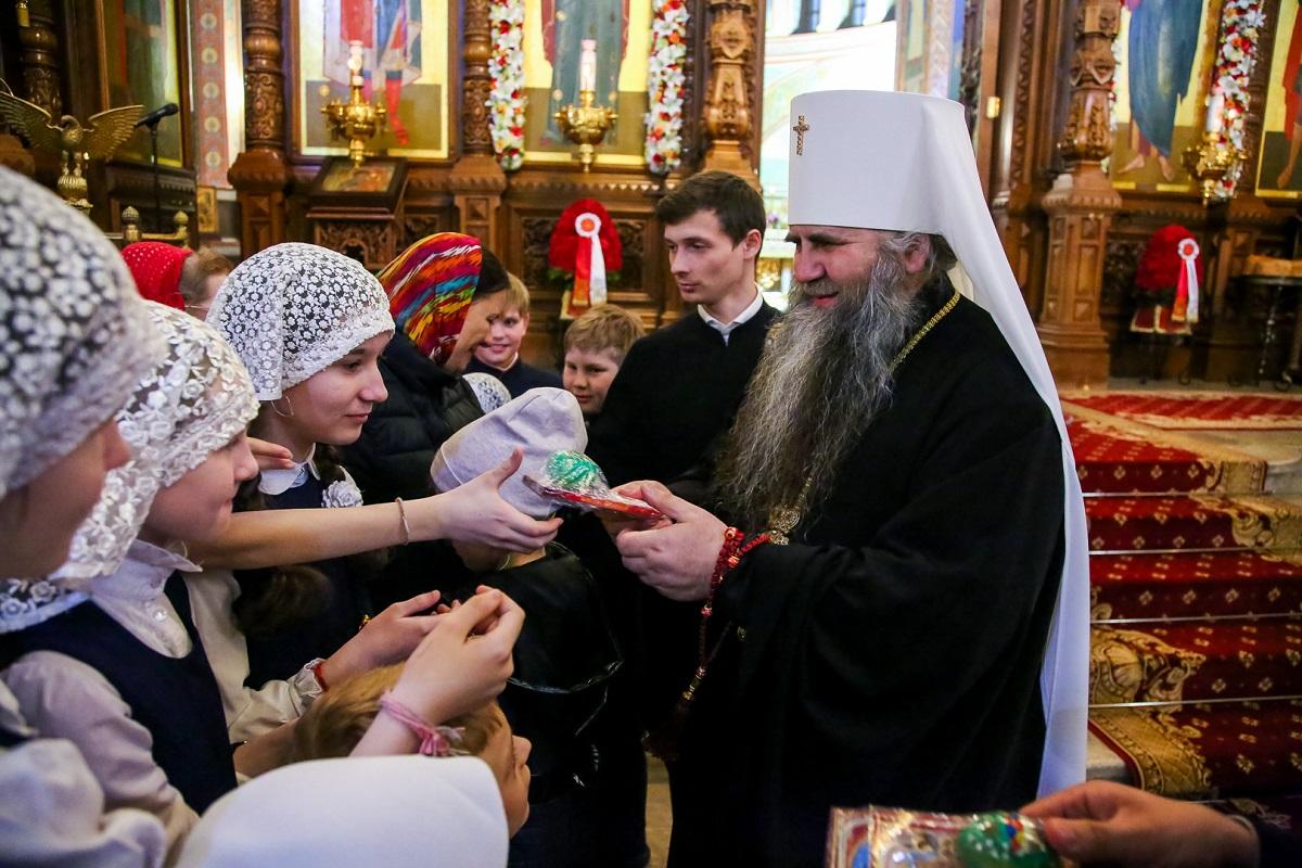 богослужение пасха митрополит