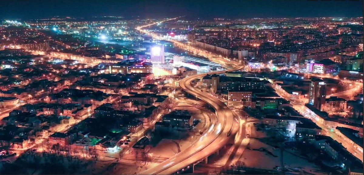 Нижний Новгород показали с высоты птичьего полета за одну минуту