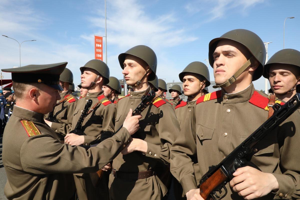 репетиция парад победы 9 мая солдаты