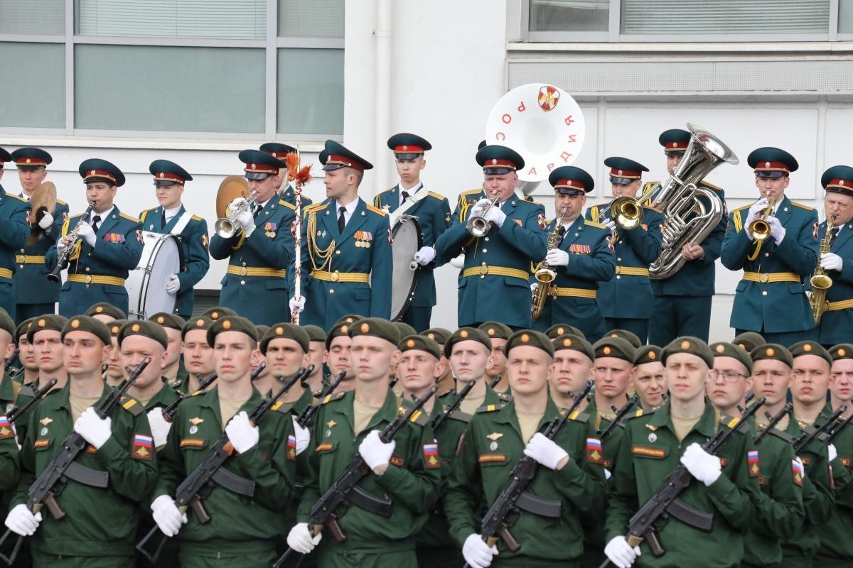 репетиция парад победы 9 мая военные оркестр
