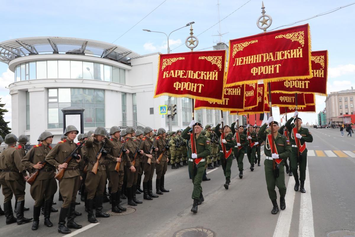 репетиция парад победы 9 мая военные штандарты