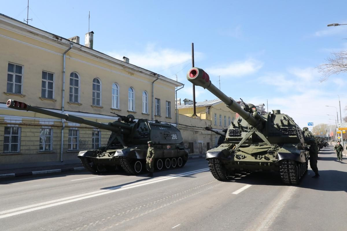 репетиция парад победы 9 мая военные танки