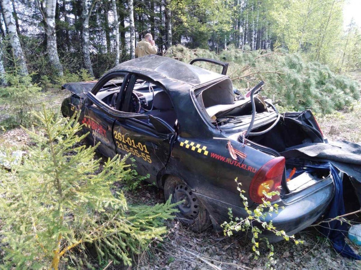 Один человек погиб и трое ранены в ДТП с такси под Нижним Новгородом