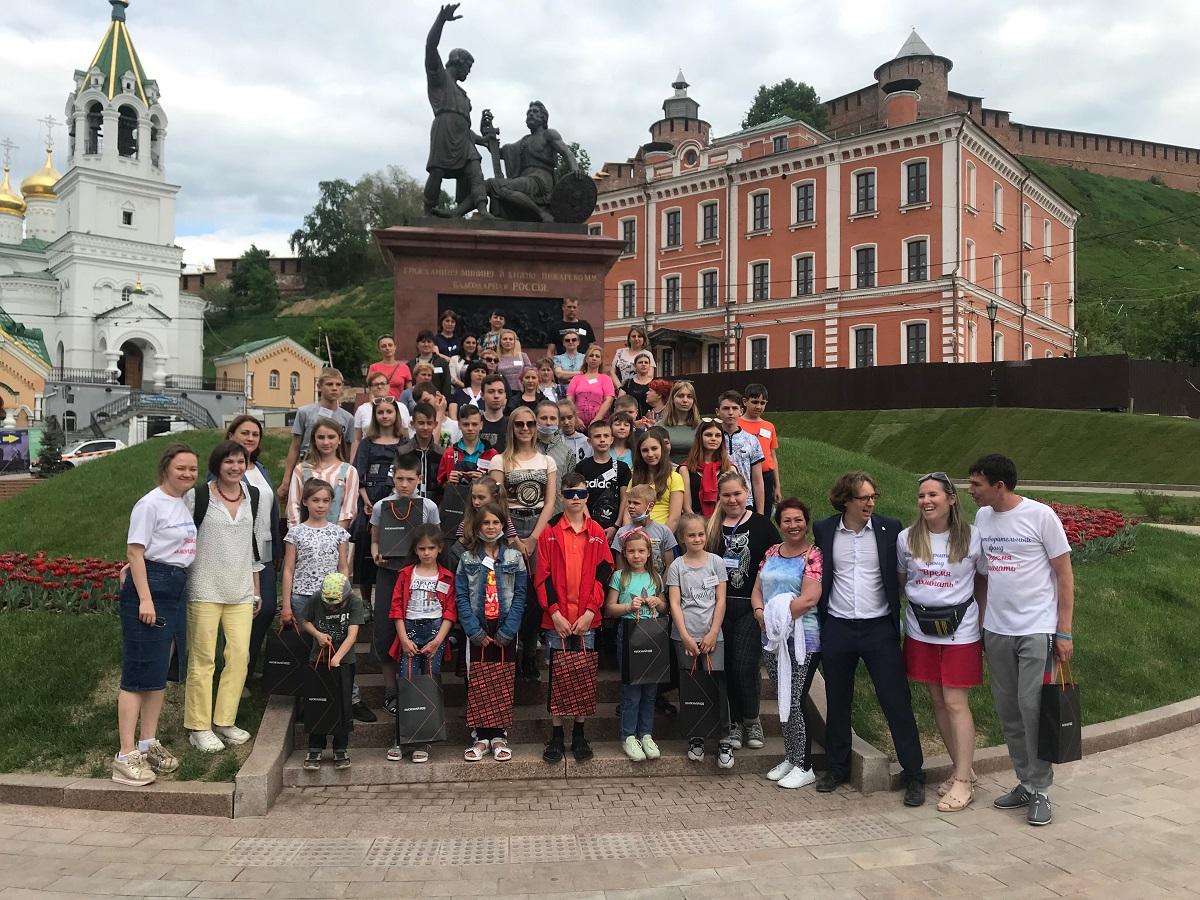 Семьи из Донбасса приехали на экскурсию в Нижний Новгород