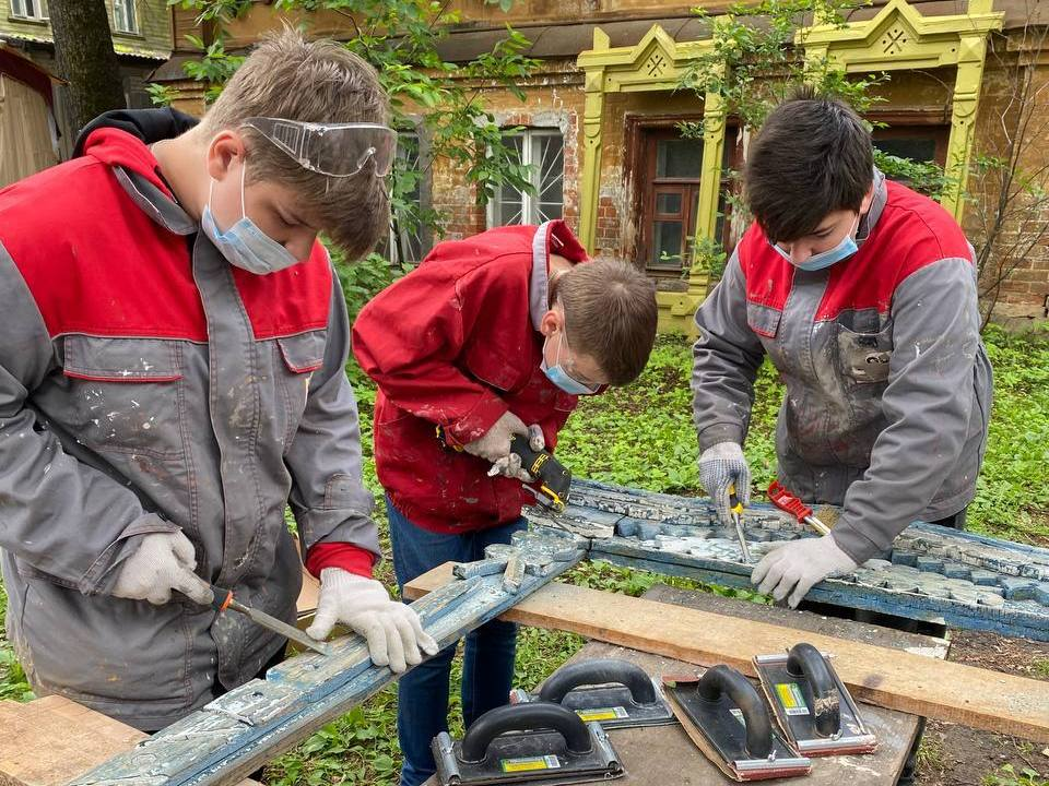 Нижегородские школьники помогают восстанавливать исторические дома