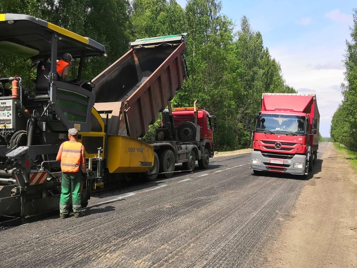Ремонт участка дороги вУренском районе понацпроекту завершится всентябре 2021 года
