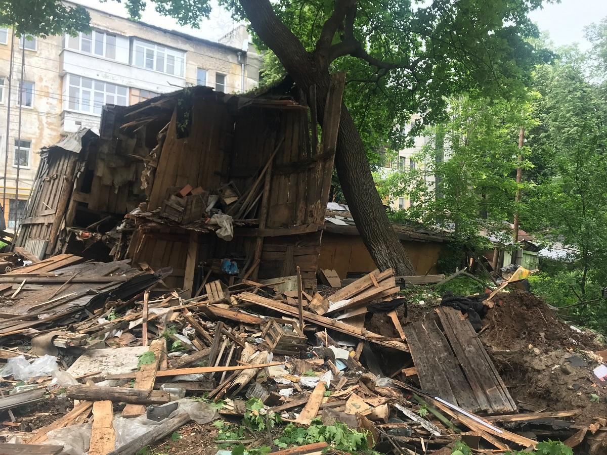 Старые сараи снесут в центре Нижнего Новгорода