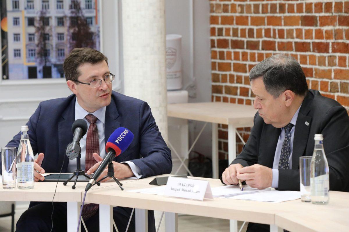 Глеб Никитин иАндрей Макаров провели совещание сэкономическим блоком правительства региона