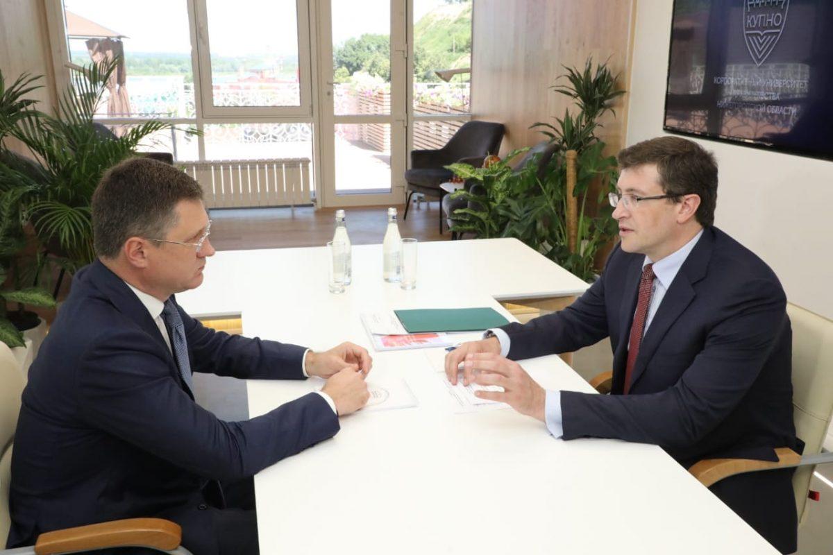 Глеб Никитин представил Александру Новаку предложения региона поразвитию инженерной иэнергетической инфраструктуры