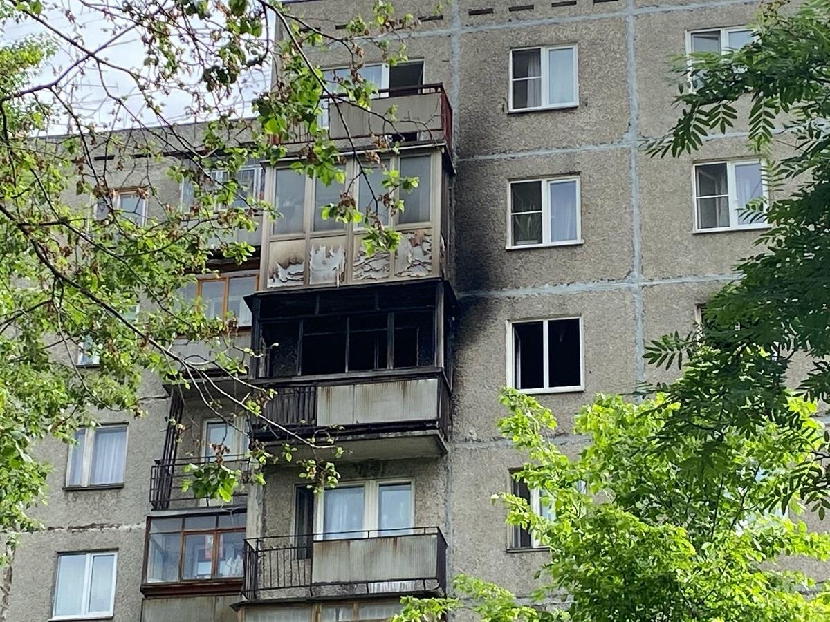 Многоквартирный дом загорелся на улице Фруктовой в Нижнем Новгороде