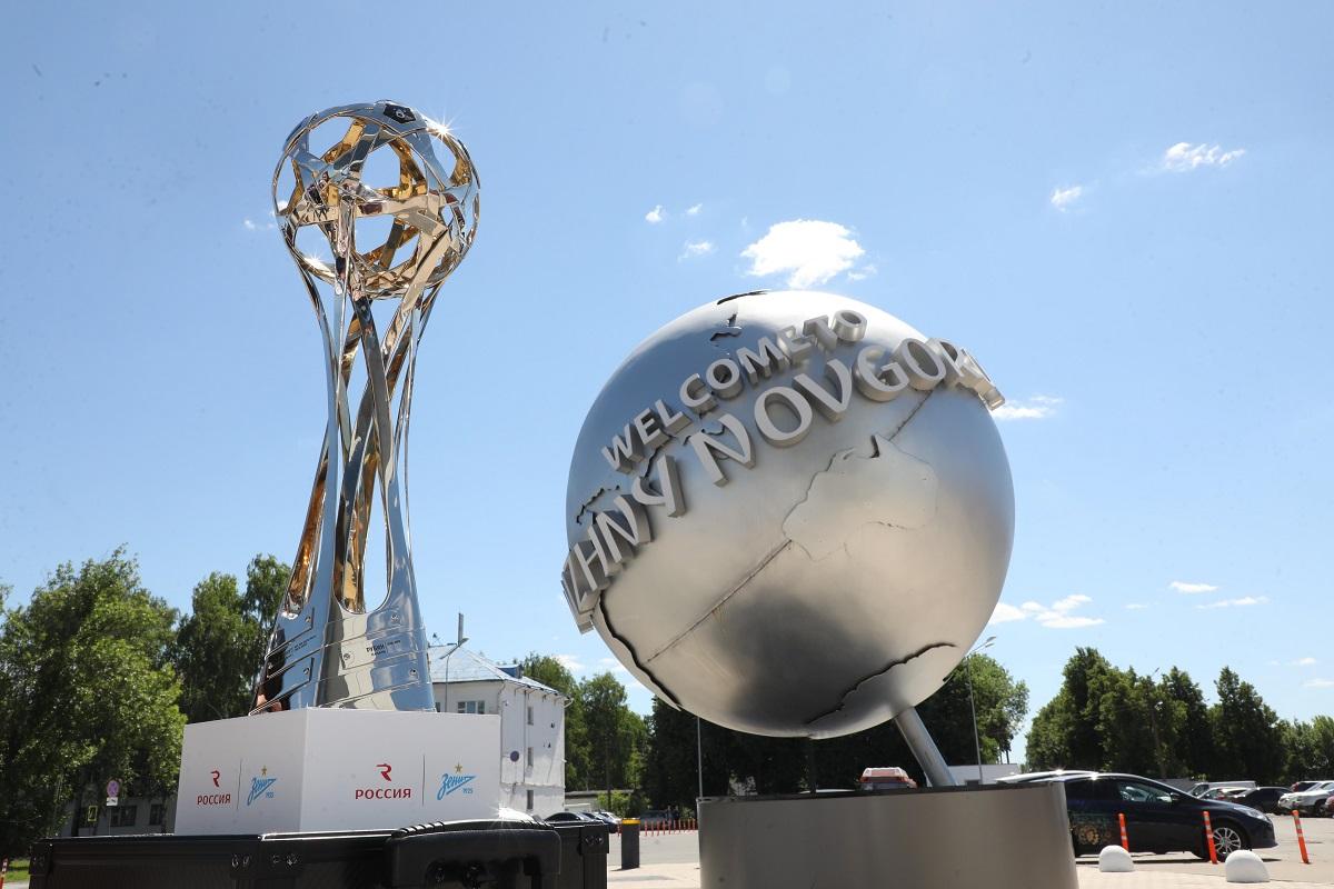Нижегородцы сегодня могут увидеть футбольный кубок чемпионов РПЛ