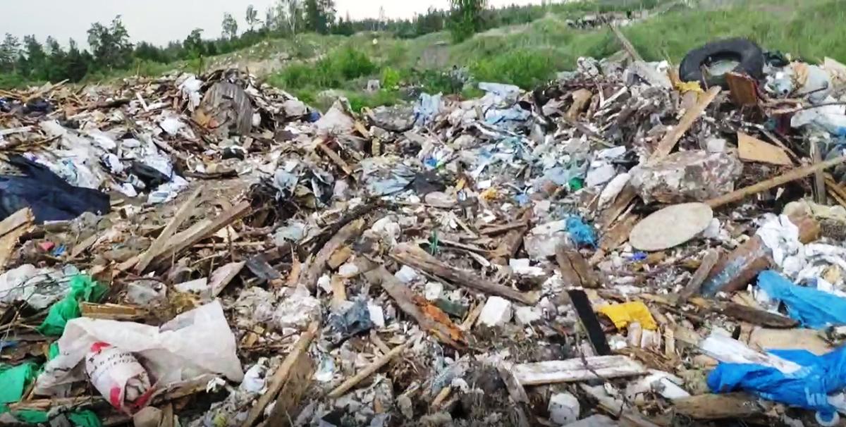 Стихийную свалку мусора обнаружили на Московском шоссе