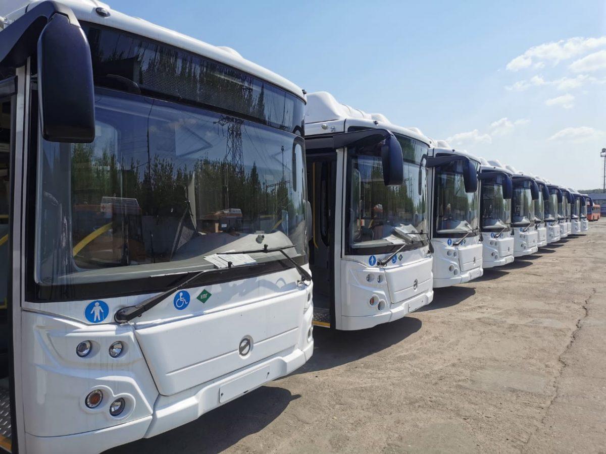 20 новых автобусов пополнили автопарк «Нижегородпассажиравтотранса» благодаря нацпроекту «Безопасные качественные дороги»