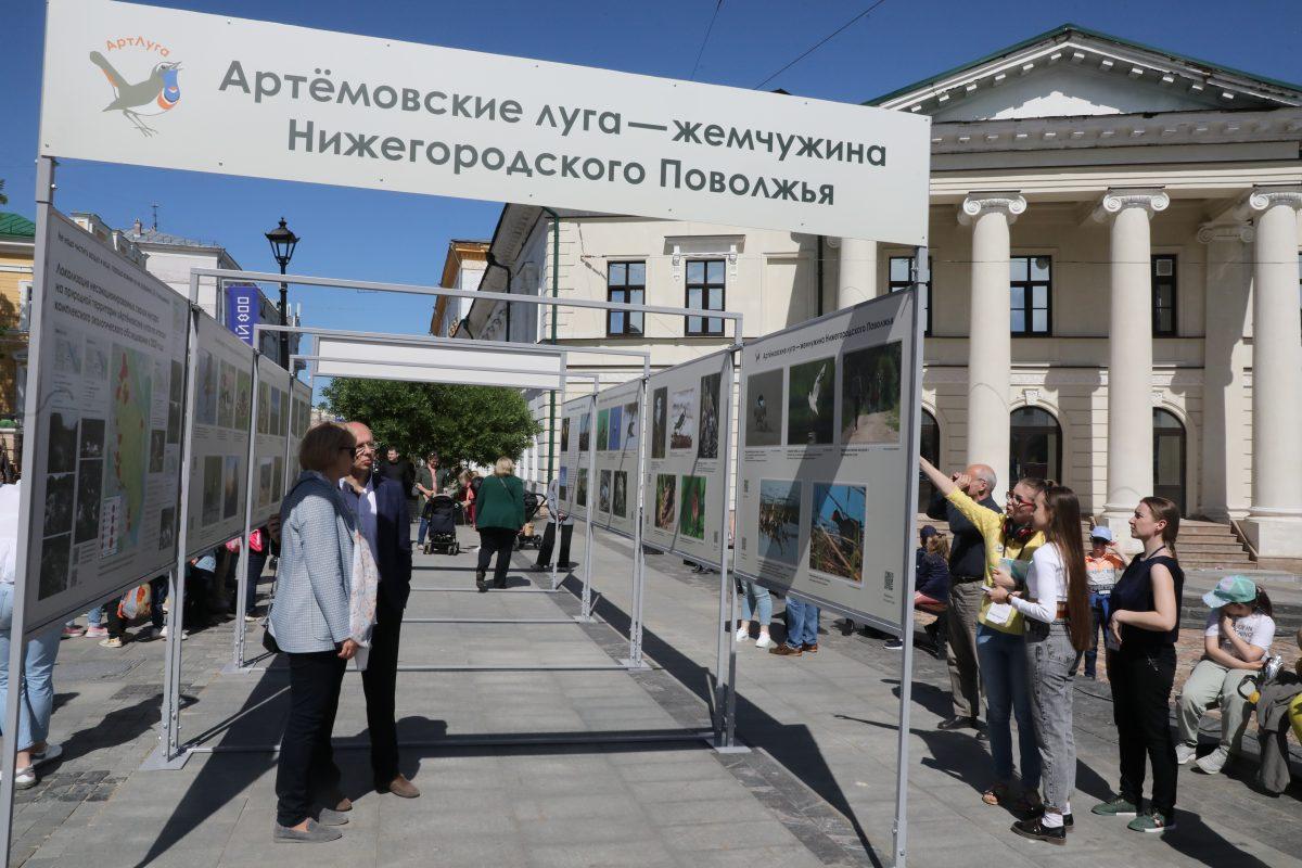Фотовыставка «Артемовские луга — жемчужина Нижегородского Поволжья» открылась на Большой Покровской