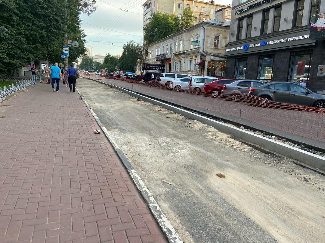 Парковка появится на улице Большая Покровская к 15 августа