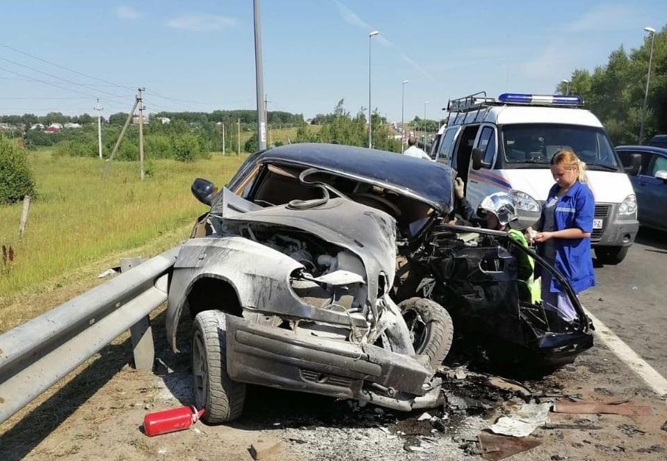 Водитель погиб в аварии на трассе М-7 в Нижегородской области