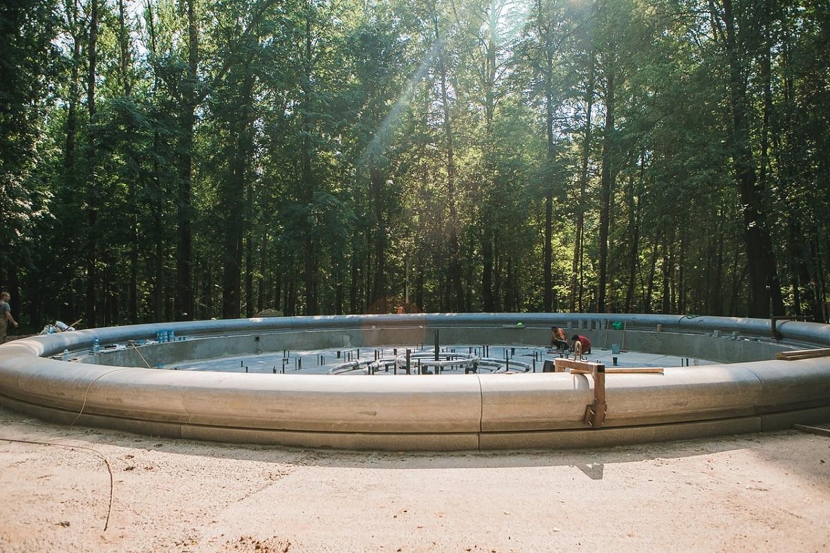 В нижегородском парке «Швейцария» завершаются отделочные работы на главном поющем фонтане