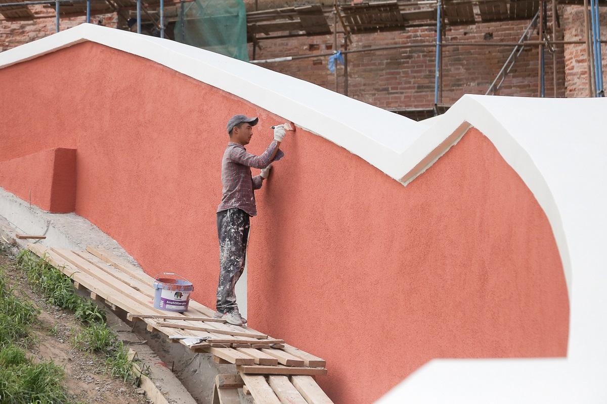 Реконструкция Чкаловской лестницы выполнена на 80%