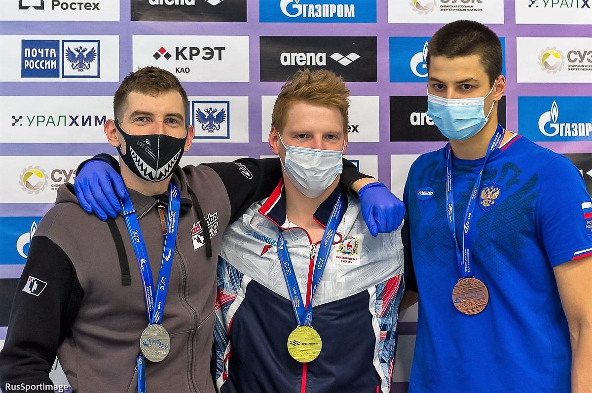Нижегородский пловец Михаил Доринов одержал победу в Кубке России