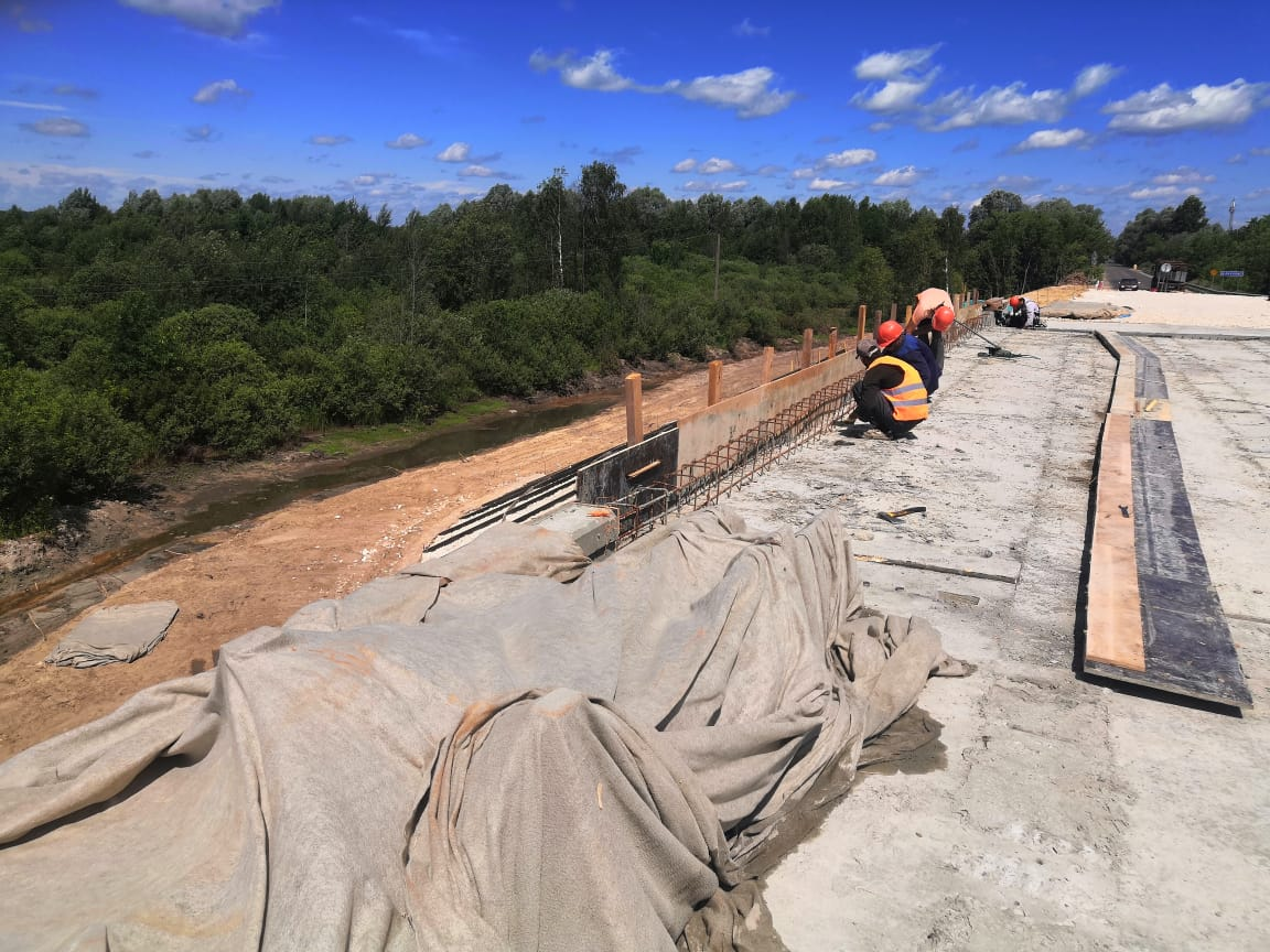 Новый мост через Велетьму вНавашинском районе Нижегородской области достроят кконцу сентября