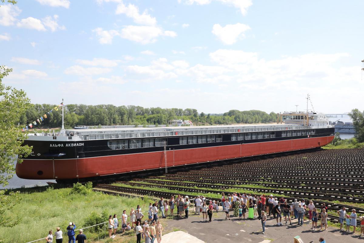 Новый сухогруз спустили на воду на заводе «Красное Сормово»