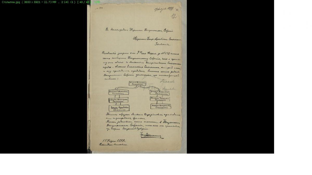 Нижегородские архивисты представили документы, связанные сПетром Столыпиным