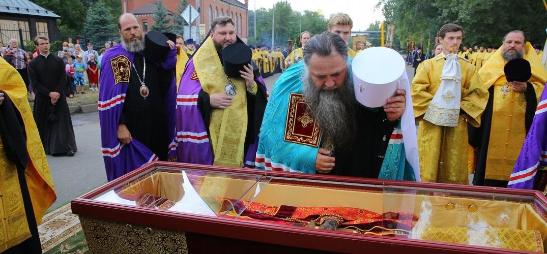 LIVE: перенесение мощей в храм во имя святого благоверного князя Георгия Всеволодовича и Великое освящение храма