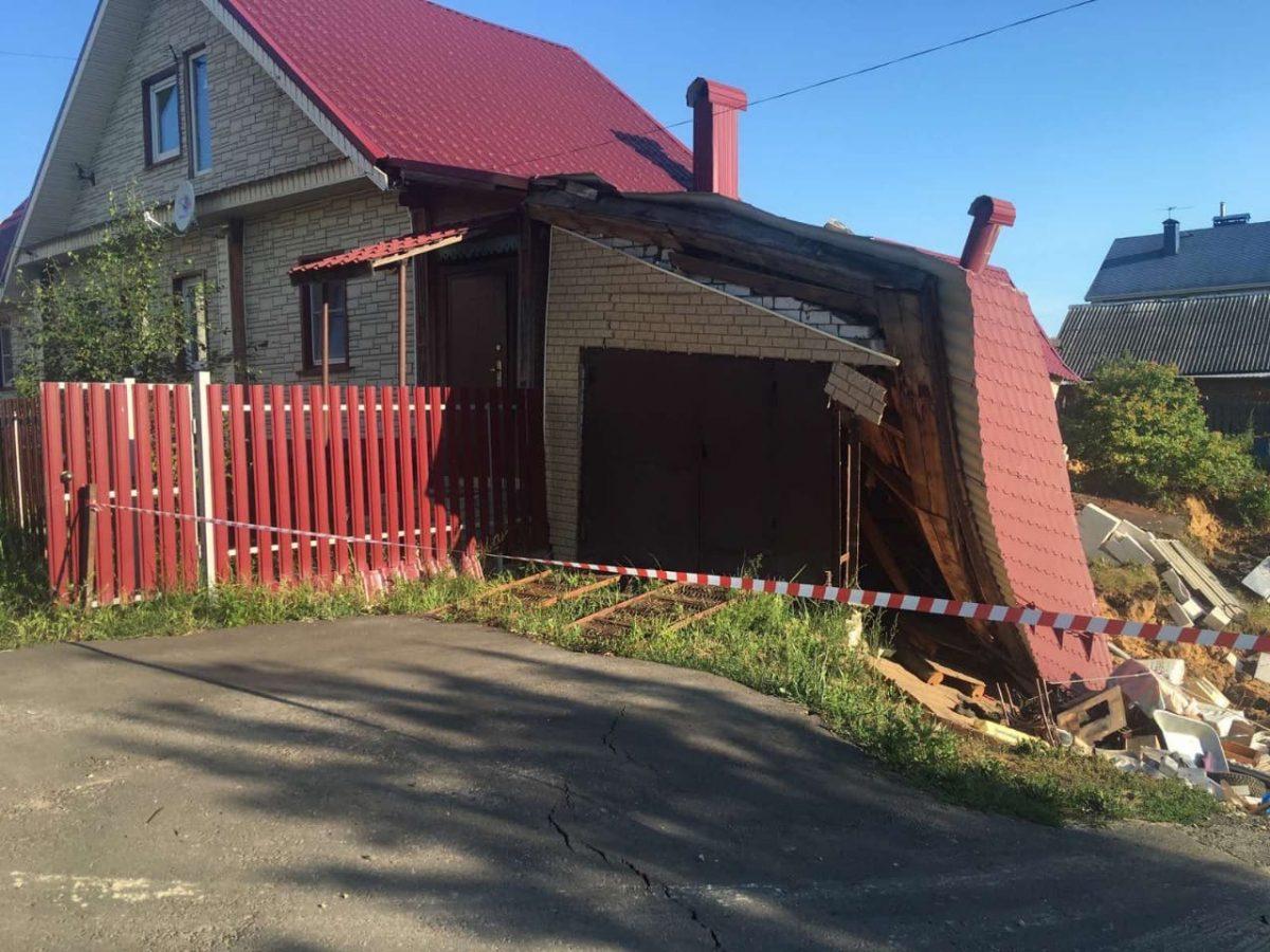 Дом в Балахне может обрушиться из-за провала грунта