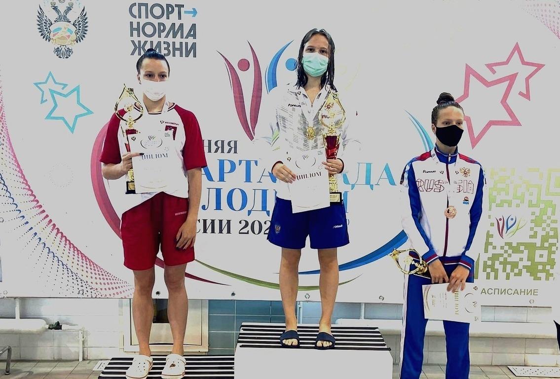 Третье золото выиграла нижегородская пловчиха Елена Богомолова на Спартакиаде молодёжи России