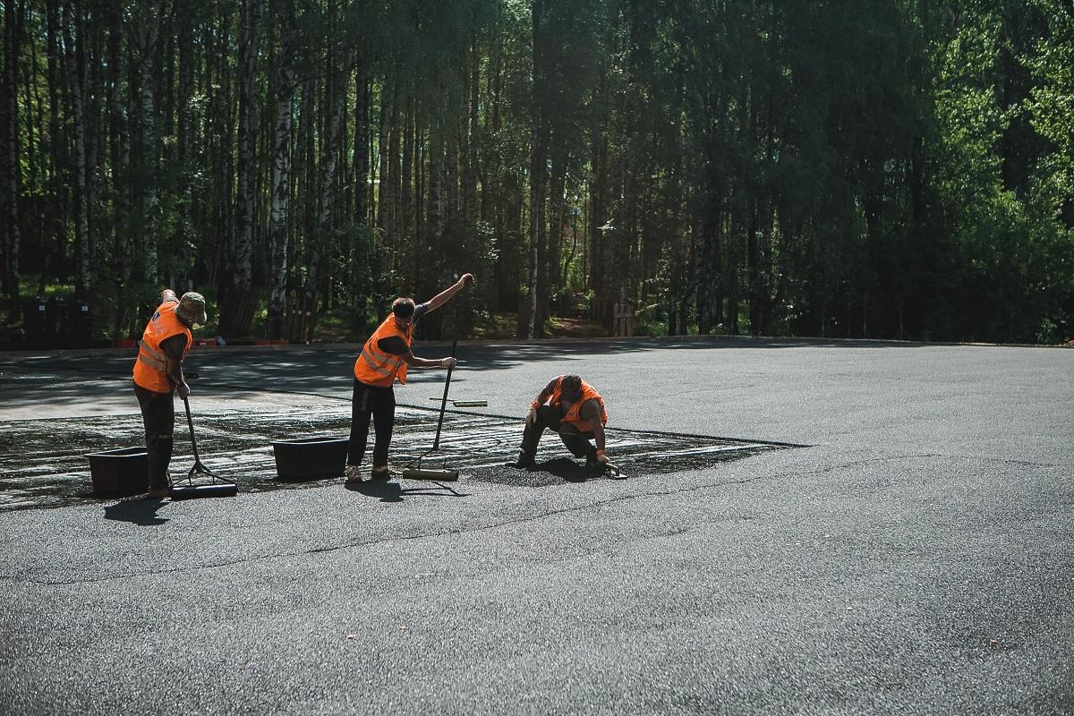 Впарке «Швейцария» на75% выполнены работы посозданию спортивного парка