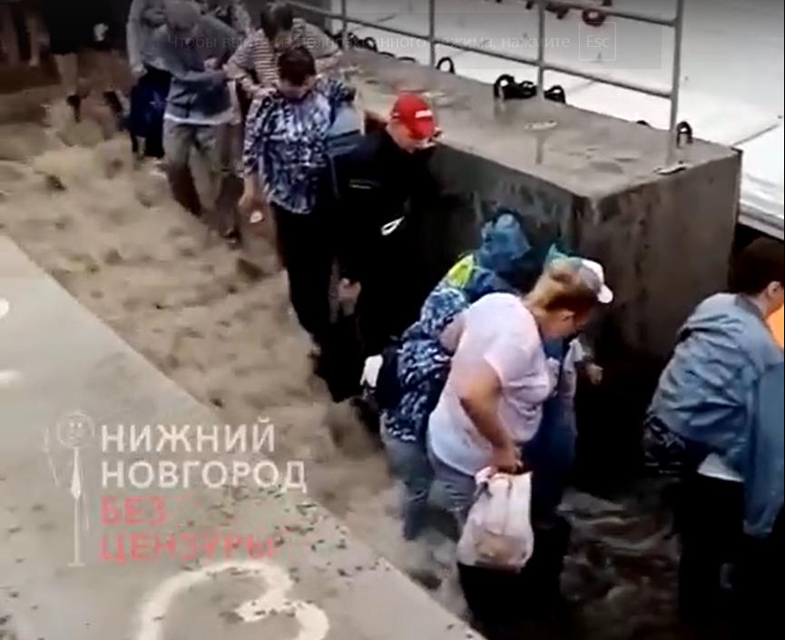 В администрации Городецкого района прокомментировали инцидент с детьми-инвалидами на затопленном причале
