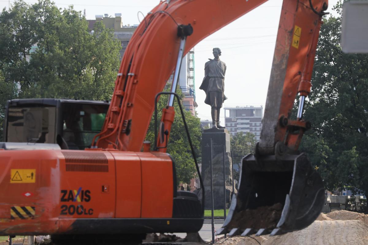 Открытие сквера на площади Горького перенесли на конец июля
