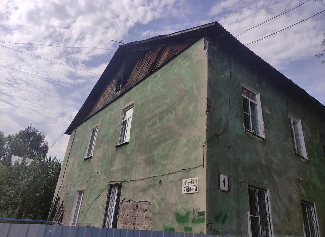 Сгоревший дом на улице Дубравная линия в Нижнем Новгороде восстановят