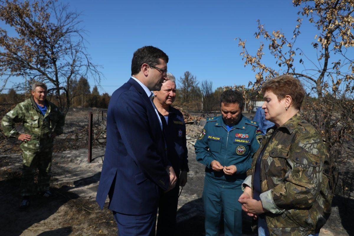 Глеб Никитин изамминистра МЧС России Николай Гречушкин обсудили ситуацию сприродными пожарами