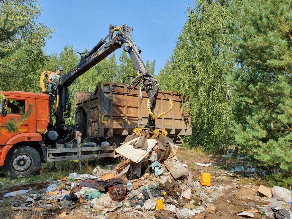 Почти 10 тысяч кубометров мусора вывезено с несанкционированных свалок в Дзержинске